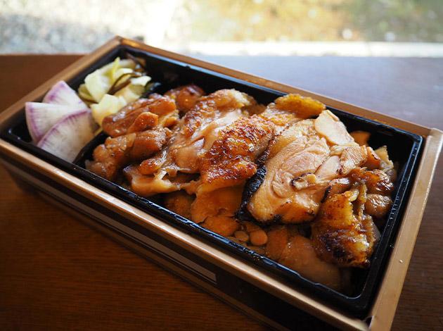 赤城鶏の炭火焼き弁当